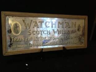 "A""Watchman""Advertising Mirror c 1920,"