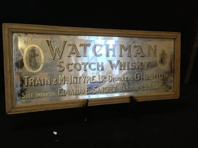 "A""Watchman""Advertising Mirror c 1920,"