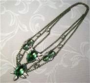 A Vintage Czechoslovakian Costume Jewellery Necklace ,,