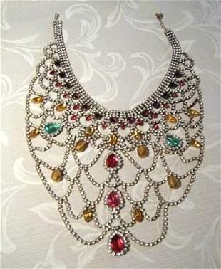 A Vintage Czechoslovakian Costume Jewellery Bib