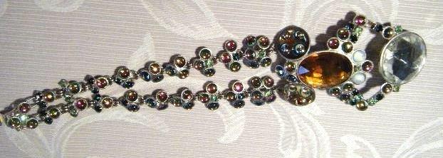 An Unusual Vintage Figural Costume Jewellery Bracelet ,