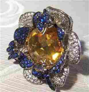 A Modernist Silver Dress Ring ,