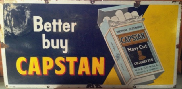 A Capstan Porcelain Enamel Sign , c 1940