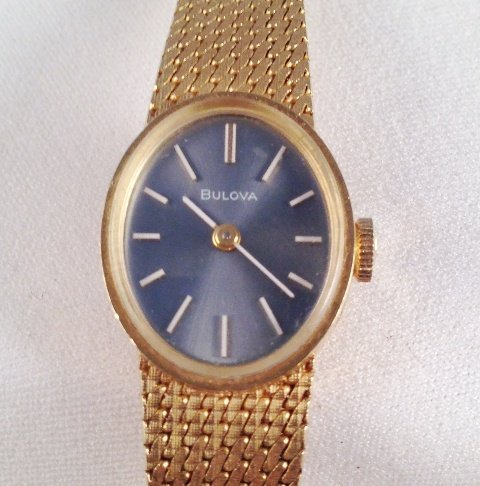 A 9 Carat Bulova Ladies Watch