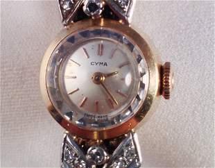 An 18 Carat Cyma Ladies Watch ,