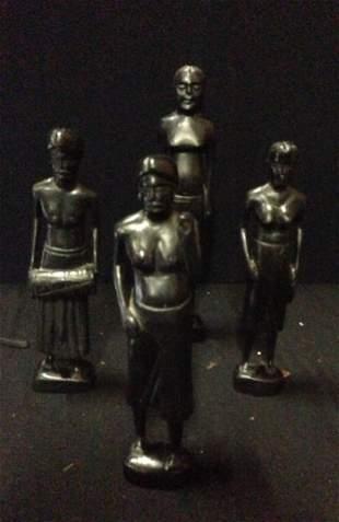 A Selection of Ebony Figures