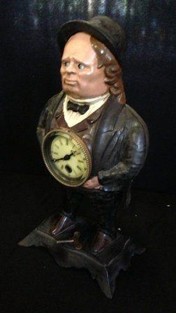 A 19th Century Style American Cast Metal Clock,