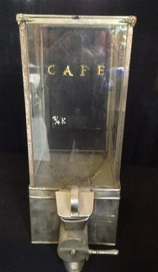 A Nickel Plated Coffee Dispenser , c 1930