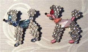 A Selection of Czechoslovakian Figural Brooches,