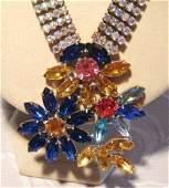 A Vintage Czechoslovakian Costume Jewellery Necklace