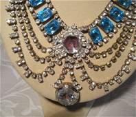A Vintage Czechoslovakian Costume Jewellery Bib Necklac