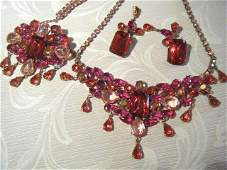 A Vintage Czechoslovakian Suite of Costume Jewellery ,