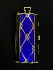 An Unusual Swiss Enamel and Silver Ladies Compact , c 1