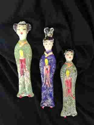 A Selection of Chinese Archaic Glass Figures,