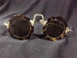 An Unusual Pair of Chinese Tortoishell Glasses