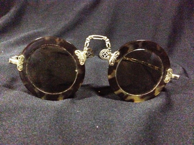An Unusual Pair of Chinese Tortoishell Glasses
