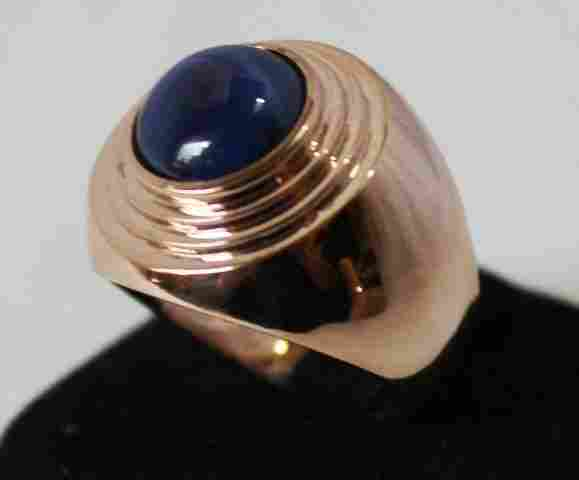 An Rose Gold Star Sapphire Set Dress Ring ,