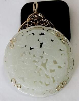 An Mounted Jade Pendent ,