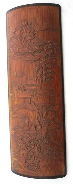 A Chinese Bamboo Wristwrest , Probably Qing Dynasty,