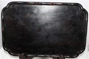 A Chinese Zitan Scholars Tray ,