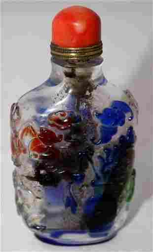 A Chinese Peking Glass Snuff Bottle ,