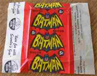 RARE 1967 BATMAN GUM WRAPPER