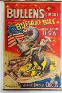 A Bullen's Buffalo Bill in Australia Circus Poster,