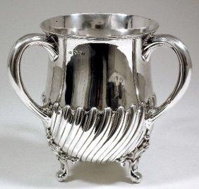 A Victorian Silver Three Handled Tyg Or Loving Cup W