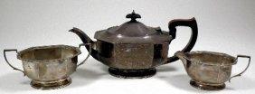 3: An Elizabeth II silver three piece tea service with