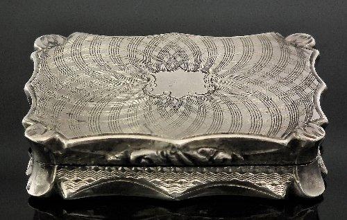 23: A Victorian silver rectangular vinaigrette of shape