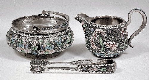 54: A late 19th/early 20th Century Russian silvery meta
