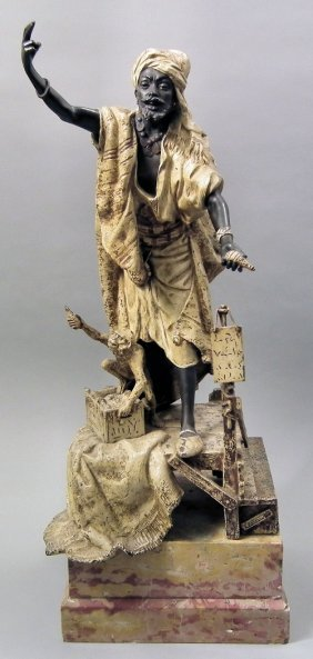 623: Louis Holtot (1834-1905) - Bronzed metal figure -
