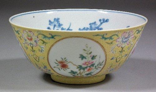 "650: A Chinese porcelain ""Famille Rose"" medallion bowl"