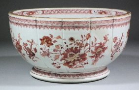 660: A Chinese porcelain circular footed bowl painted i