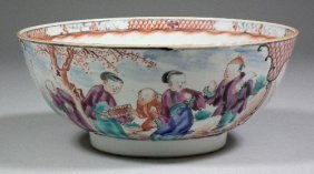 A Chinese Porcelain Bowl Painted In Colours With F