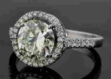 A modern platinum mounted all diamond set dress ring, t