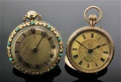A 19th Century Swiss lady's open faced pocket watch, th