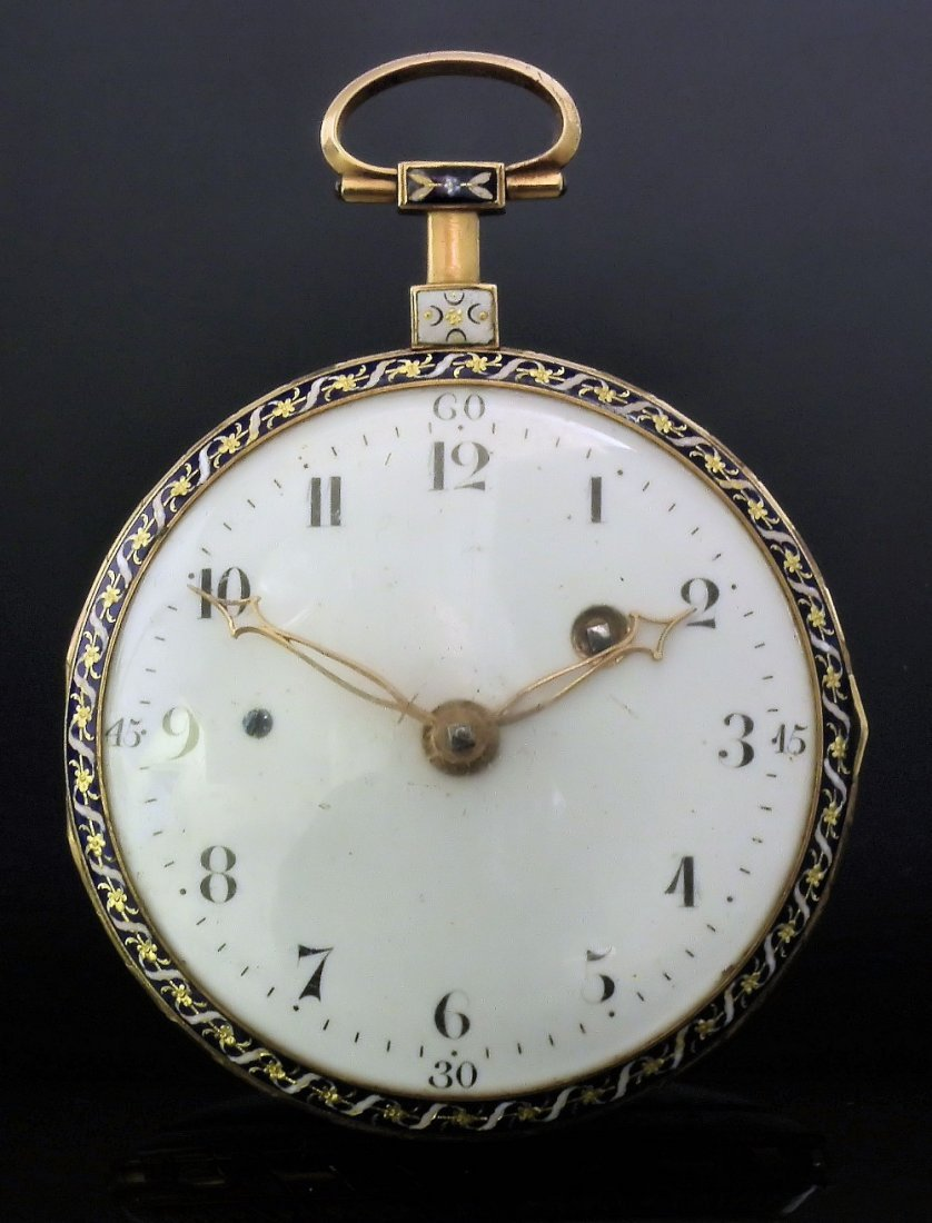 An early 19th Century gentleman's Swiss gold coloured m