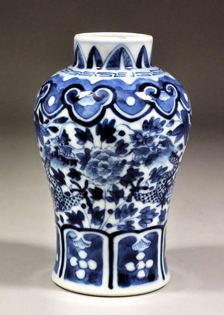 Chinese blue and white porcelain baluster shaped vase,