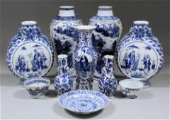 A small collection of Chinese blue and white porcelain,