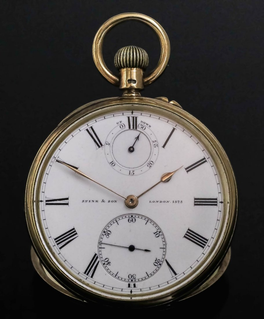 A George VI gentleman's 18ct gold cased open faced pock