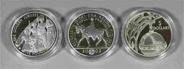 """Twelve Elizabeth II """"Golden Jubilee"""" silver proof Five"""