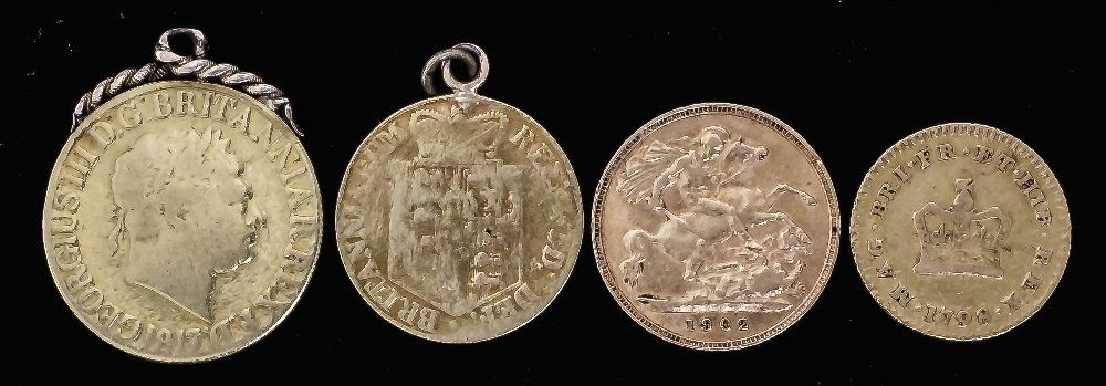 A George III 1817 Sovereign with applied pendant mount