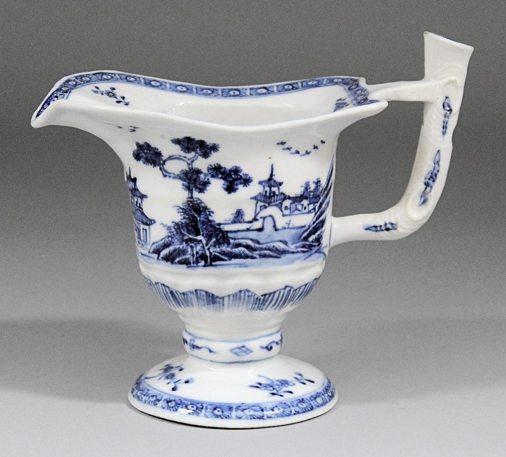 Chinese blue and white porcelain helmet shaped cream ju