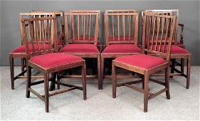 A Harlequin set of ten George III mahogany dining chair