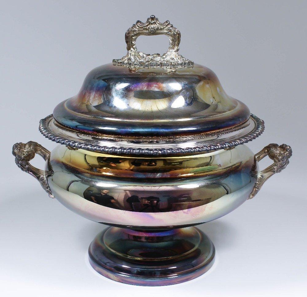 An Elizabeth II silver circular urn pattern two-handled
