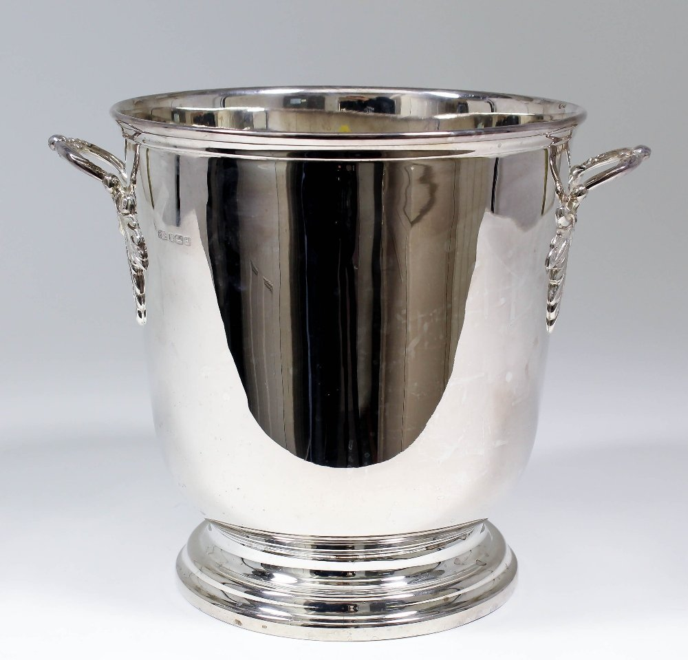 An Elizabeth II silver two-handled wine cooler with mou