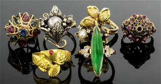 A modern gold coloured metal mounted jade and diamond s