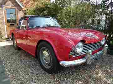A 1962 Triumph TR4 two door sports car, registration No