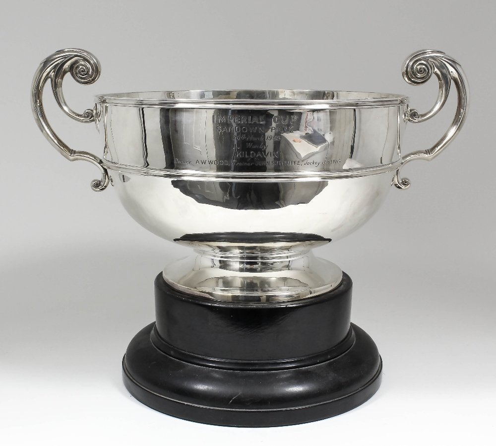 """A late Victorian silver two-handled trophy - """"Imperial"""